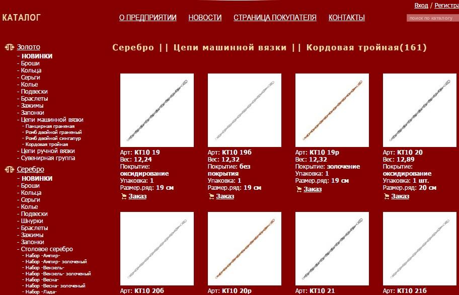 Каталог официального сайта Красная пресня