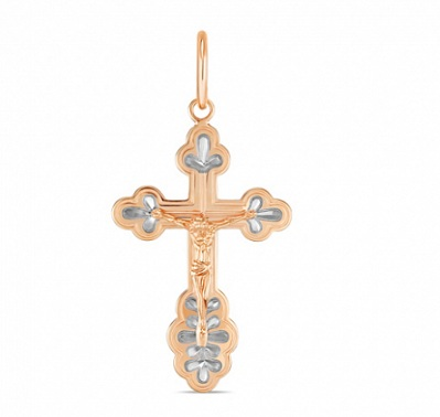 Внешний вид золотого креста на сайте Московского ювелирного завода